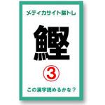 漢字クイズ『メディカサイト脳トレ 魚へん』ブログパーツ