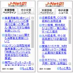 中小企業ニュース・支援情報|J-Net21ブログパーツ