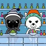 スミ+クモ時計-Icy Winter Treat