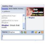 Gabbly チャットルームブログパーツ