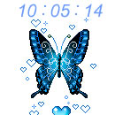 Butterfly Clock Widget