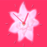 Pink Flower Clock Widget