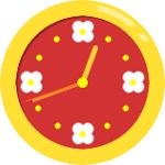 フラワーアナログ時計ブログパーツ