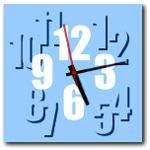 10種類から選べる☆ポップカラーアナログ時計ブログパーツ