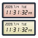 10色☆パステルカラーデジタル時計ブログパーツ
