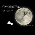 うさぎの月時計ブログパーツ