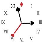 アナログ時計【トランプ】